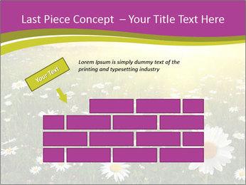 Flower field PowerPoint Template - Slide 46