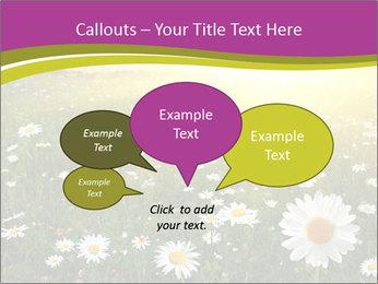Flower field PowerPoint Template - Slide 73