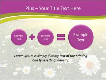 Flower field PowerPoint Template - Slide 75