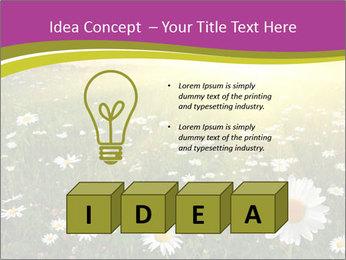 Flower field PowerPoint Template - Slide 80