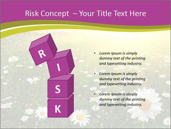 Flower field PowerPoint Template - Slide 81