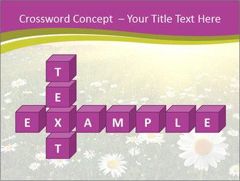 Flower field PowerPoint Template - Slide 82