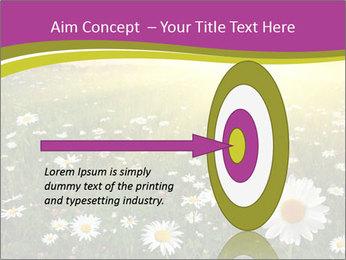 Flower field PowerPoint Template - Slide 83