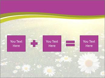 Flower field PowerPoint Template - Slide 95