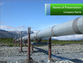 Alaska pipeline PowerPoint Template - Slide 1