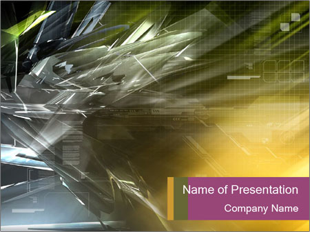 Futuristic hi-tech PowerPoint Template