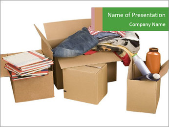 Transport cardboard boxes PowerPoint Template