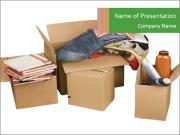 Transport cardboard boxes PowerPoint Templates