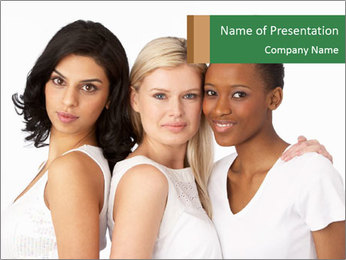 Young Women PowerPoint Template - Slide 1