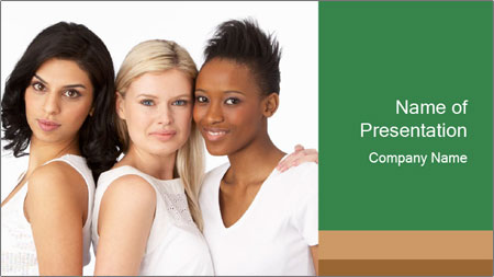 Young Women PowerPoint Template