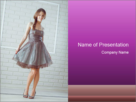 Wearing dress PowerPoint Template