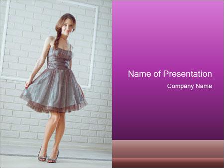 Wearing dress PowerPoint Templates