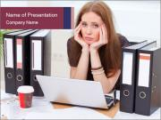 Bad mood in the office PowerPoint Template