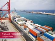 Large container ship PowerPoint Templates