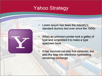 Large container ship PowerPoint Template - Slide 11