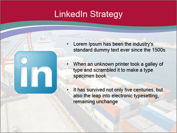 Large container ship PowerPoint Template - Slide 12