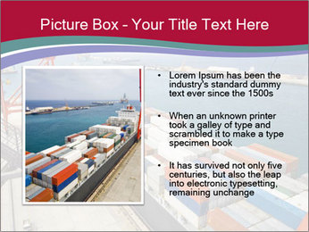 Large container ship PowerPoint Template - Slide 13