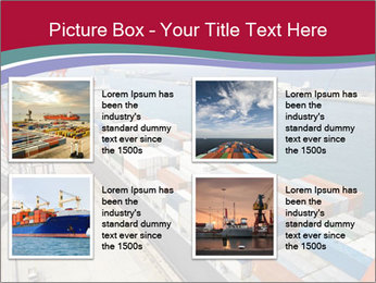 Large container ship PowerPoint Template - Slide 14