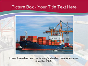 Large container ship PowerPoint Template - Slide 15