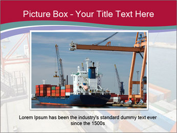 Large container ship PowerPoint Template - Slide 16