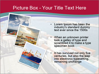 Large container ship PowerPoint Template - Slide 17