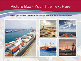 Large container ship PowerPoint Template - Slide 19