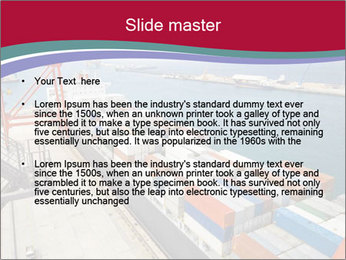Large container ship PowerPoint Template - Slide 2