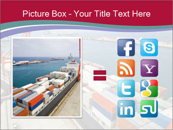 Large container ship PowerPoint Template - Slide 21