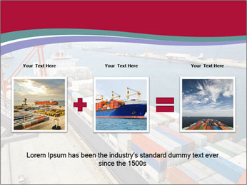 Large container ship PowerPoint Template - Slide 22