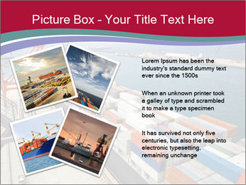 Large container ship PowerPoint Template - Slide 23