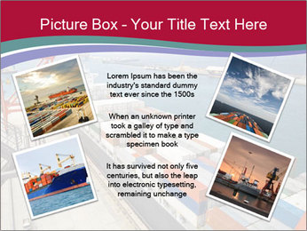 Large container ship PowerPoint Template - Slide 24