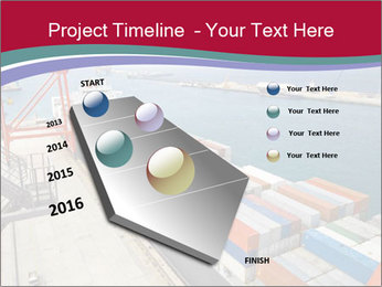 Large container ship PowerPoint Template - Slide 26