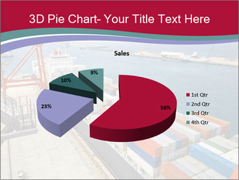 Large container ship PowerPoint Template - Slide 35