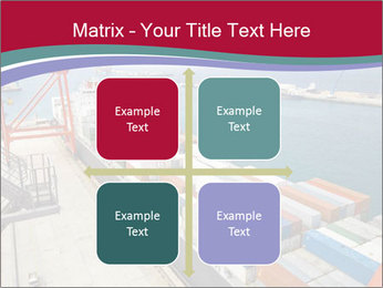 Large container ship PowerPoint Template - Slide 37