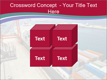 Large container ship PowerPoint Template - Slide 39