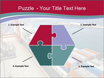 Large container ship PowerPoint Template - Slide 40