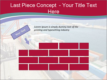 Large container ship PowerPoint Template - Slide 46