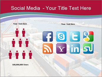 Large container ship PowerPoint Template - Slide 5