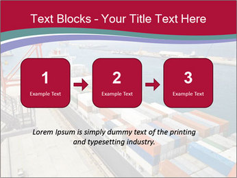 Large container ship PowerPoint Template - Slide 71