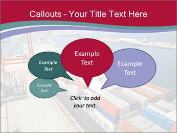 Large container ship PowerPoint Template - Slide 73