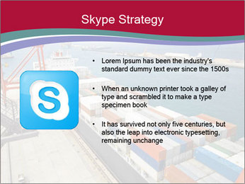 Large container ship PowerPoint Template - Slide 8