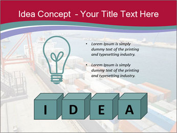Large container ship PowerPoint Template - Slide 80