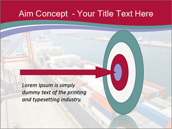 Large container ship PowerPoint Template - Slide 83
