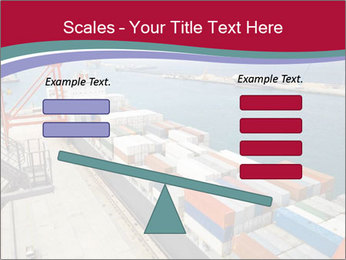 Large container ship PowerPoint Template - Slide 89