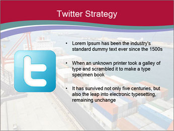 Large container ship PowerPoint Template - Slide 9