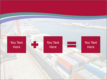 Large container ship PowerPoint Template - Slide 95