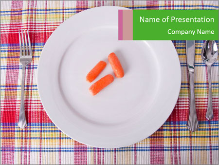 Three carrots PowerPoint Template