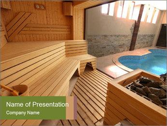 Sauna PowerPoint Template - Slide 1