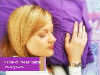 Sleeping PowerPoint Template - Slide 1