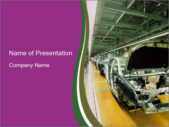 Car production PowerPoint Template - Slide 1